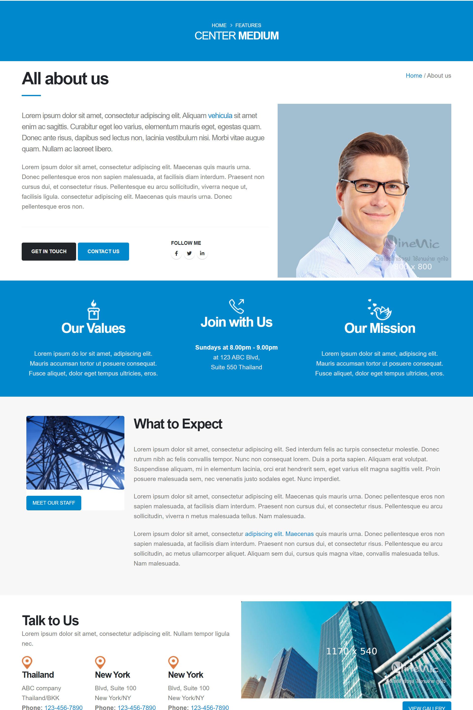 เว็บไซต์สำเร็จรูป สร้างเว็บไซต์ ด้วยเพจเลย์เอ้าท์-page layout-About us