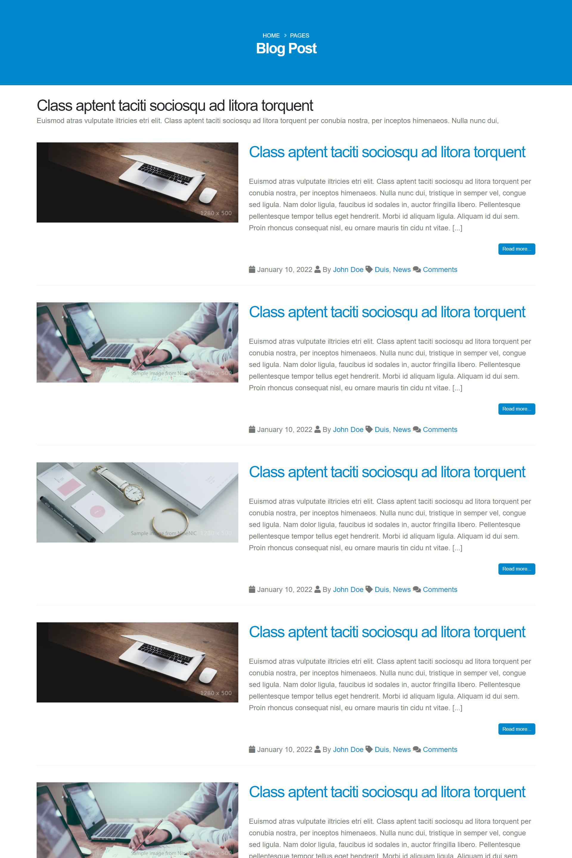 เว็บไซต์สำเร็จรูป-layout-blog (No functional)