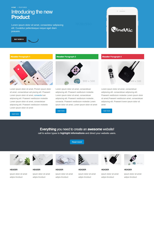 เว็บไซต์สำเร็จรูป-layout-general pages